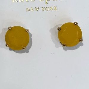 Kate Spade yellow gold gumdrops post earrings.